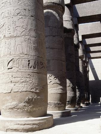 Columns of Great Hypostyle Hall, Temple of Amun, Karnak, Luxor, Thebes