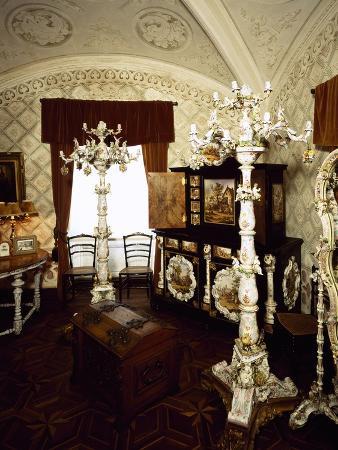 Saxony Porcelain Room in Palacio Nacional Da Pena, Sintra