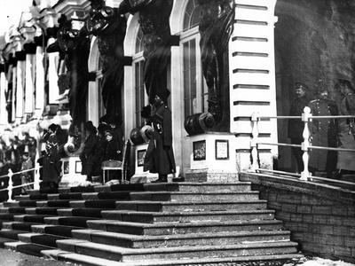 The Russian Imperial Family on the Steps of Catherine Palace, C.1912