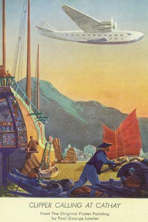 Pan-American Clipper Flying Over China - Hong Kong, China
