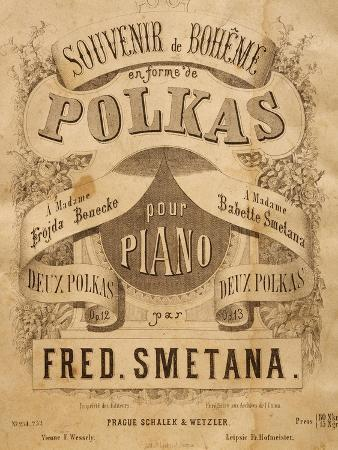 Title Page of Score for Souvenir of Bohemia in Polka Form, Opus 12
