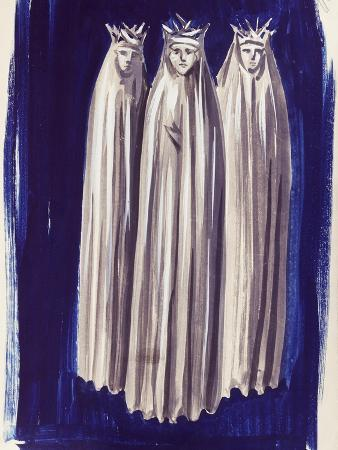 Costumes for Company Which Performed Opera Bluebeard's Castle