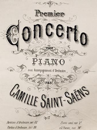 Title Page of Piano Concerto No 1, Opus 17