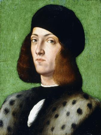 Portrait of a Young Gentleman, Bust-Length, Wearing a Black Cap and Black Coat, 1506