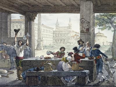 Tavern in Piazza San Giovanni in Laterano in Rome