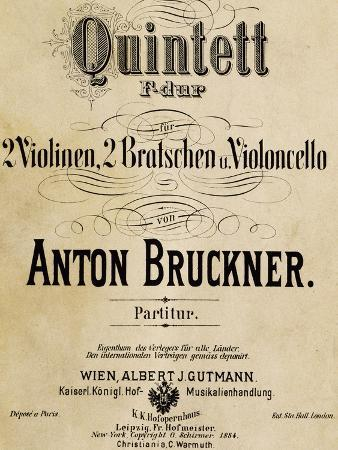 Title Page of Score for Quintet in F Major for Strings, 1878-1879