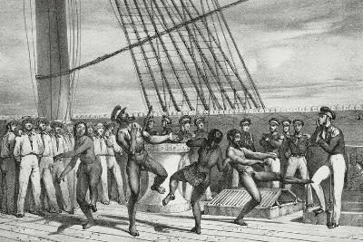 Natives from Easter Island Dancing on Frigate Venus