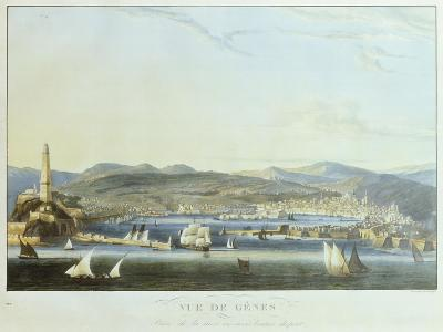 View of the Ancient Port of Genoa from the Sea, 1810