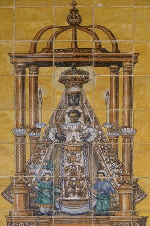 Madonna and Child, Decorative Tiles, Charterhouse of Jerez De La Frontera