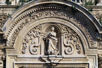 Decoration with Statue in Lunette Above Entrance, Charterhouse of Jerez De La Frontera