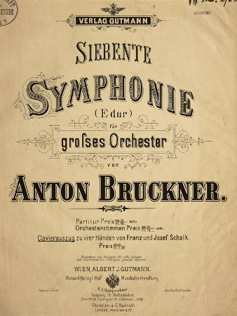 Title Page of Score for Seventh Symphony, Dedicated to Ludwig Von Bayern