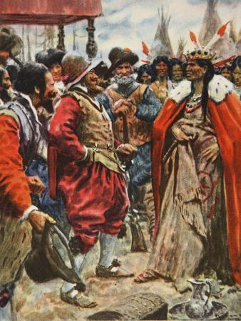 The Crowning of Powhatan