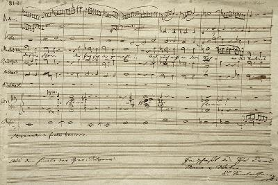 Handwritten Scored for Opera Silvana