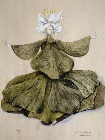 Water Lily, Costume Sketch of Romantic Opera Oberon