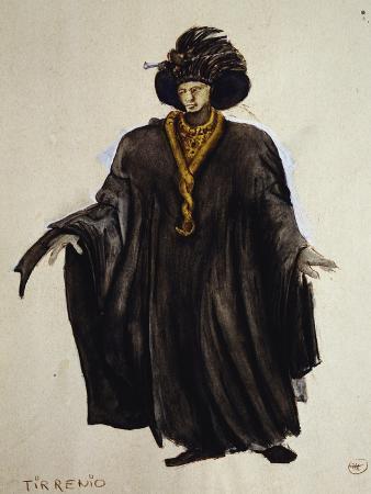 Tirrenio, Costume Sketch for the Romantic Opera Oberon