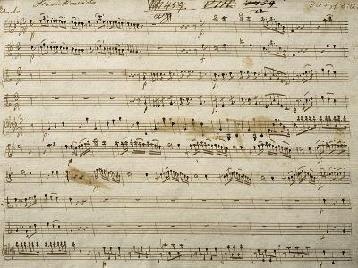 Handwritten Score for Concert Favorites for Trumpet