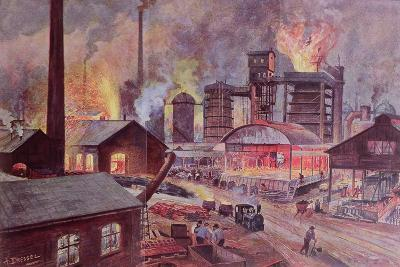 Factory with Blast Furnace