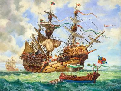 The Great Harry, Flagship of King Henry's Fleet, Sporting Many of its 251 Guns