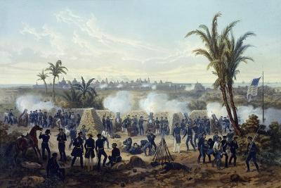 Battle of Veracruz, General Scott's Troops Attacking and Capturing City, 1847