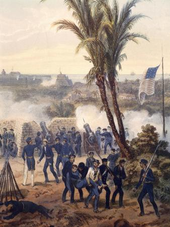 Battle of Veracruz, General Scott's Troops Attacking and Capturing City, 1847, Mexican-American War
