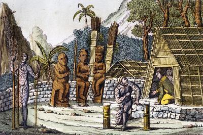 Mora, Cemetery on Island of Nuku Hiva, Marquesas Islands Archipelago
