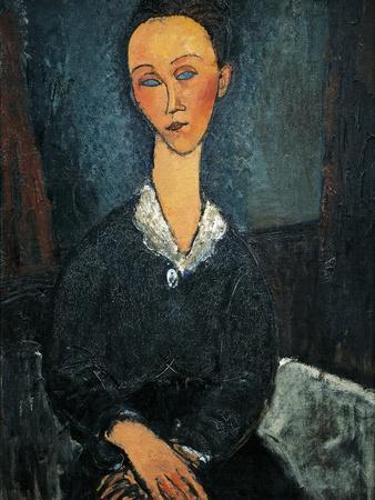 Woman in White Collar, Portrait of Lunia Czechowska, 1917