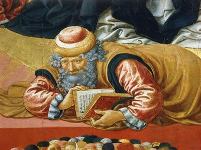 Arab Philosopher Averroes, Detail from Triumph of St Thomas Aquinas, 1470-1475
