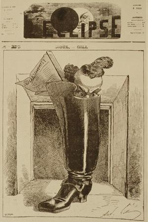 Noël, the Marseillaise in a Boot, Cover Illustration from 'L'Eclipse' Magazine, 26th December 1868