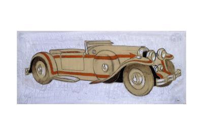 An Illustration Showing a 1924 Delage with Coachwork by Letourneur Et Marchand