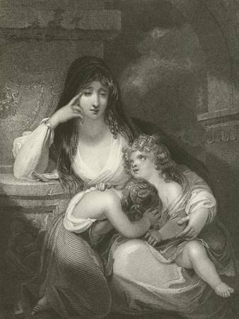Lady Pamela Fitzgerald, the Widow of Lord Edward Fitzgerald and Her Children