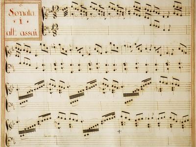 Music Sheet of Sonata No 1, Allegro Assai