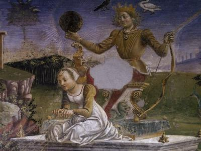 Apollo and Aurora, Detail from Triumph of Apollo, Scene from Month of May, Ca 1470