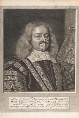 Edward Hide, from 'Historical Memorials of the English Laws' by William Dugdale, London 1666