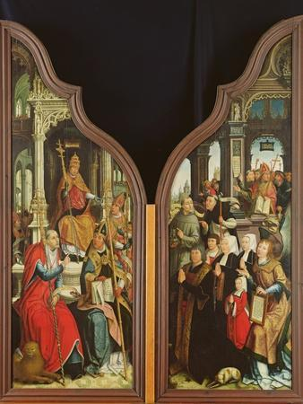 The Fathers of the Church and the Donors, from the Triptych of the Immaculate Conception