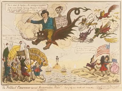 The Political Champion Turned Resurrection Man! -Out of Thy Own Mouth Will Condemn Thee.., 1819