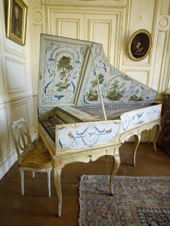 France, Chateau De Thoiry, Harpsichord Decorated with Animal and Vegetables Motifs