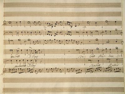 Handwritten Sheet Music of Stabat Mater, 1735