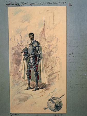 Costume Sketch by Alfred Edel for the First Act of the Opera Otello