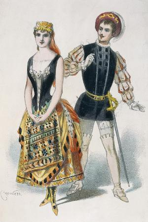 Mr Ibos and Mlle Richard as Duke of Mantua and Maddalena in Opera Rigoletto