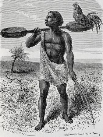 Myamuezi, Native from Unyamuezy, Engraving from Journal of Discovery of the Sources of Nile