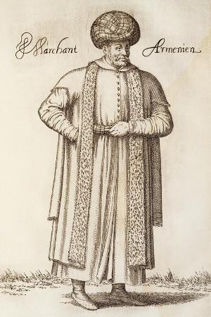 Armenian Merchant, Engraving from the Navigations, Peregrinations and Voyages Made into Turkie