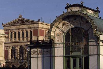 Austria, Vienna, Karlsplatz Underground Station, Designed Between 1894 and 1899