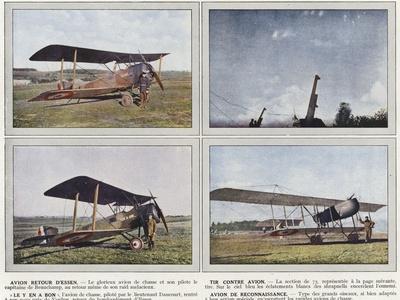 """Avion Retour D'Essen, Tir Contre Avion, """"Le Y En a Bon"""", Avion De Reconnaissance"""
