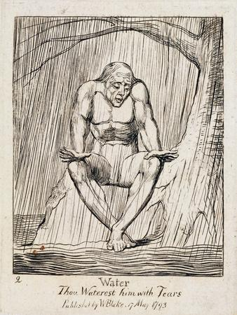 P.438-1985 Water, Thou Waterest Him with Tears, Plate 2 of 'The Gates of Paradise', 1818-25