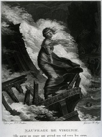 Shipwreck of Virginie, Illustration for 'Paul Et Virginie' by Bernardin De Saint-Pierre