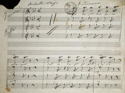Autograph Sheet Music of Seven Last Words of Our Lord, 1856