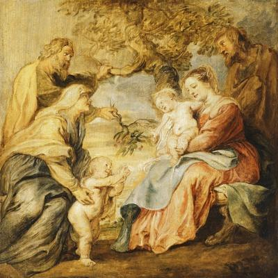 The Holy Family Visited by Saints Elizabeth, Zacharias and the Infant Saint John the Baptist