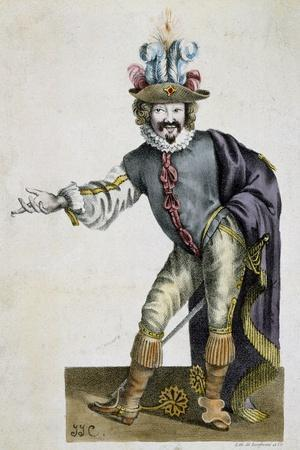 The Actor Bellemore in Role of Matamoro in Illusion Comique, Play