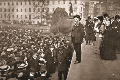 Mr Keir Hardie Addressing the First Women's Suffrage Demonstration Ever Held in Trafalgar Square
