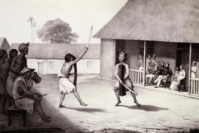 Warrior Dance Performed at Dutch Residence in Buru Island
